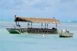 The Muri Lagoon tour boat.